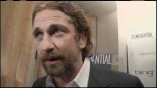 Of Men and Mavericks - LA Confidential Red Carpet - Gerard Butler talks 'Of Men and Mavericks'