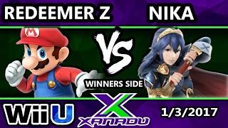 S@X 183 - Redeemer Z (Mario, ROB) Vs. Nika (Lucina) - SSB4 Tournmanet - Smash for Wii U - Smash 4