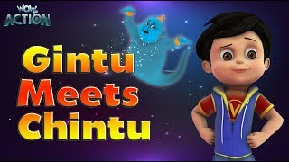 Hindi Cartoons for kids | Vir: The Robot Boy | Gintu Meets Chintu | WowKidz Action