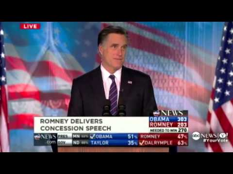 Mitt Romney's Concession Speech - Backwards video