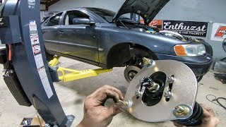 Putting Race Suspension on my Turbo Volvo!
