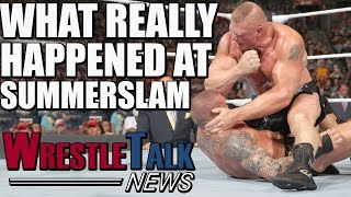 What Really Happened In Brock Lesnar Vs Randy Orton?! Why Sasha Banks Lost! | WrestleTalk News