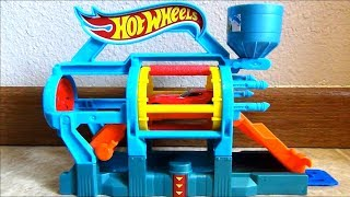 Hot Wheels Turbo Jet Car Wash Playset with Brushes Dryer Launch Ramp