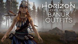 Horizon Zero Dawn - Banuk Ice Hunter & Sickness Eater Outfits (All Types of Banuk Outfits)