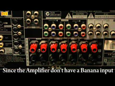 How to connect Amplifier & Speakers Using Banana Plug