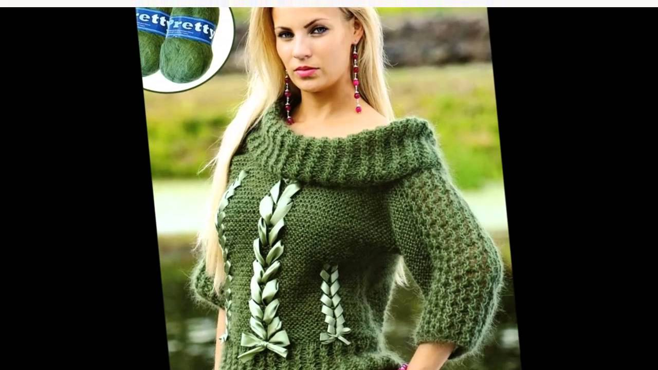 Вязание на спицах свитер супер модно и просто