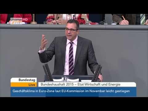 Bundestag: Debatte zum Etat für Wirtschaft und Energie (Teil 2) mit Sigmar Gabriel am 27.11.2014