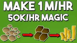 How to Make 1.M/hr While Gaining 50k Magic Exp/hr - Oldschool Runescape Money Making Method [OSRS]