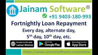 Fortnightly Loan Repayment Schedule in Microfinance | Daily Finance Calculator | Jainam Software