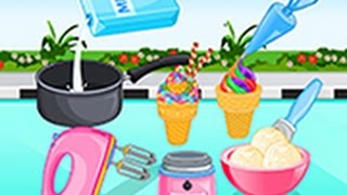 Cartoon Game: Cooking Ice Cream And Gelato