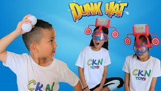 FUNNY Water Game DUNK HAT Kids Fun Challenge With Ckn Toys