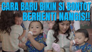 Download lagu The Onsu Family - Bikin GEMES, begini cara baru bikin Si Bontot berhenti nangis!!