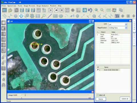 circles,pcb inspection tool kit, measurement software for