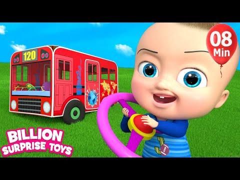 HUGE BUS Toys - Little Kids Songs - Nursery Rhymes for Babies