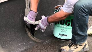 How to repair a leak utilizing Karnak 15 Muck Roof Cement - Utility Grade - low cost