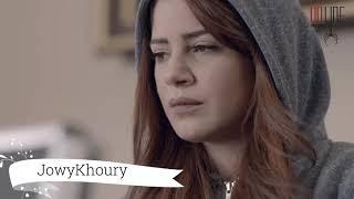 مسلسل علاقات خاصة - جهاد حرق غراض لمار وحرقها معون - جوي خوري