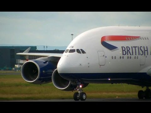 NEW British Airways A380 - Training Flight To Shannon