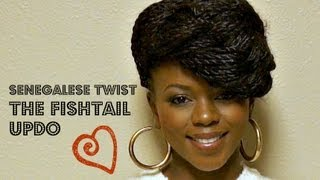 UPDO-Fishtail Braid Your Senegalese Twist!