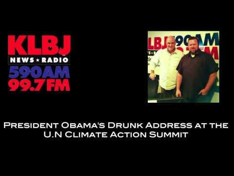 President Obama's Drunk Address at the U.N Climate Action Summit
