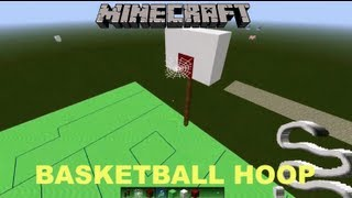 Minecraft Tutorial: How To Make A Basketball Hoop