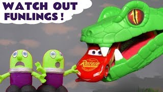 Funny Funlings toy stories with Cars McQueen and Thomas and Friends trains TT4U