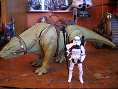 star wars dewback imperial sandtrooper  legacy collection review youtube