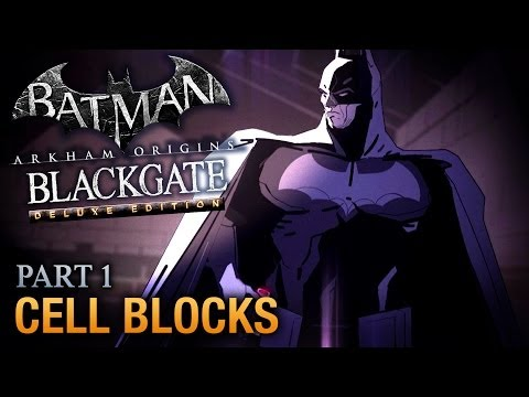 Batman: Arkham Origins Blackgate Walkthrough - Part 1 - Cell Blocks [Deluxe Edition]