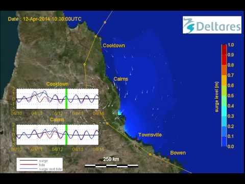Simulation Cyclone Ita (Queensland), 10 April 2014