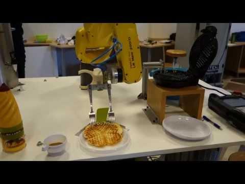 Robot, ki peče vaflje