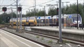 VIRM 9550 sleept defecte SLT 2465 - Station Almere Oostvaarders