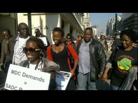 ZIMBABWE DEMOCRACY MEMORENDUM speech..MDC 3rd  21st global protest HD