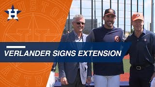 Verlander, Astros announce 2-year contract extension