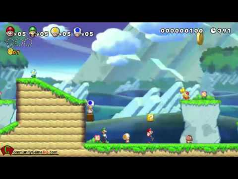 Wii U - New Super Mario Bros MII U (Wii U) Gameplay Demo walkthrough