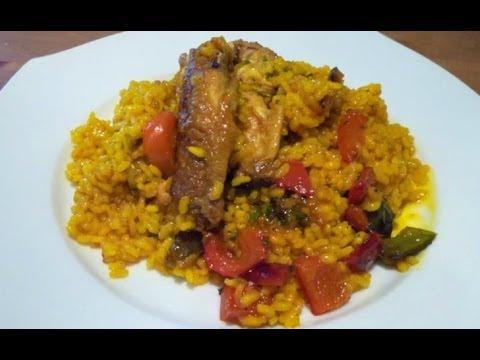 Arroz con pollo ( alitas de pollo ) - Recetas de arroces
