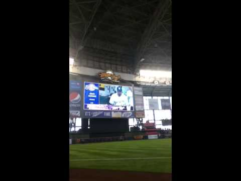 2013 Milwaukee Brewers starting lineups and team intro (Ope