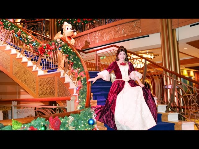 Disney Dream Merrytime Cruise See Ya Real Soon Finale Show with Mickey, Minnie, Belle, Carolers