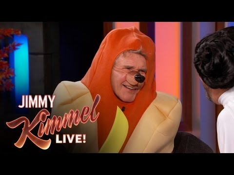 "Harrison Ford Talks About ""Star Wars: The Force Awakens"" in a Hotdog Costume"