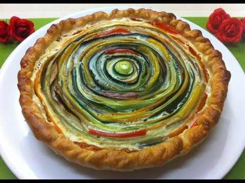 "Receta: ""Espiral de Verduras"" (vegetable pie)"