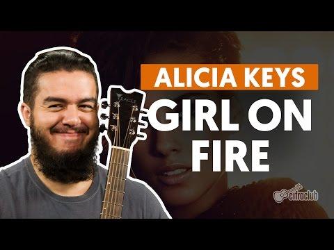 Girl On Fire - Alicia Keys (aula de violão completa)