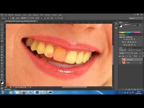 Video Tutorial #1- Come sbiancare i denti con photoshop cs6-