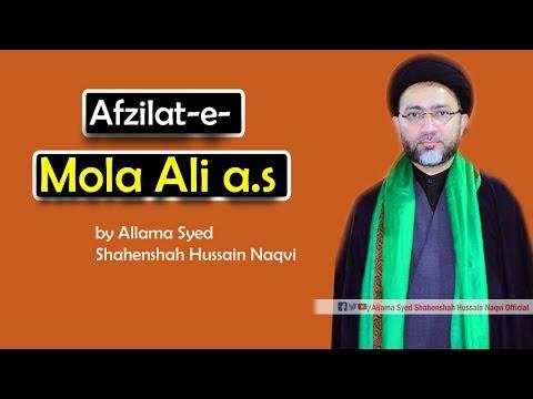 Afzilat-e-Mola Ali a.s by Allama Syed Shahenshah Hussain Naqvi
