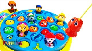 Paw Patrol Let's Go Fishing with Color Fish Toys & Gumballs