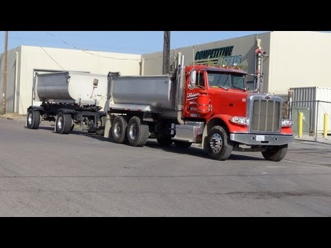 End Dump Truck Semi Truck Transfer Dumps Peterbilt Kenworth Freightliner Video Review