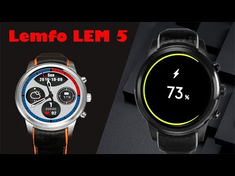 SMARTWATCH LEMFO LEM5 Review - OLED Display(Best Chinese Smartwatch 2018)