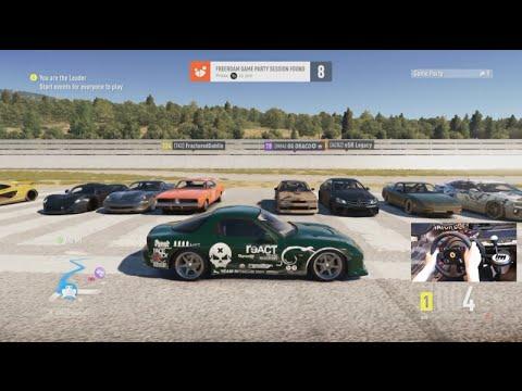 Forza Horizon 2 Airport Drag Racing 900+ HP Rx7 Open Lobby w/Wheel Cam
