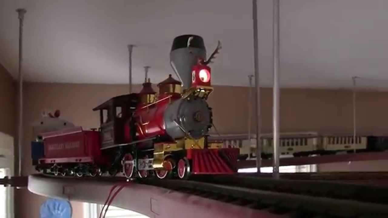 Disney Lgb Train On Interrail Suspended Track Youtube