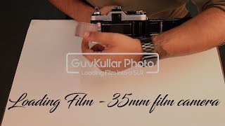 How to load 35mm film