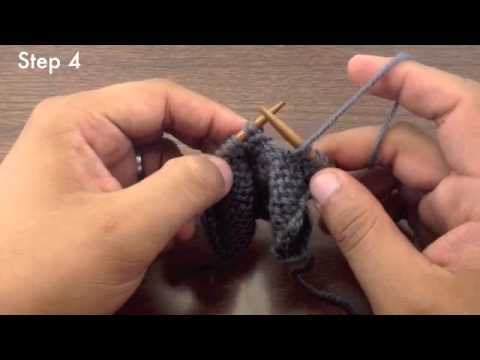 Knitting Stitches Purl Through Back Of Loop : How to Knit the Slip Slip Purl Through the Back Loop Decrease - SSP TBL (Engl...