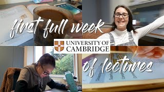 CAMBRIDGE UNIVERSITY VLOG 2 - Lectures and Freshers' Flu Begin