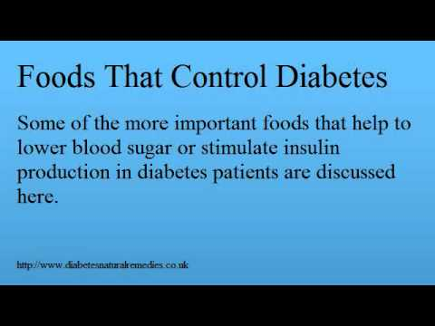 Foods That Control Diabetes